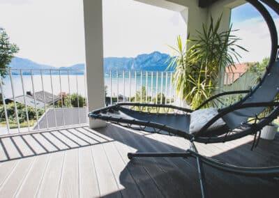 Balkon Ferienhaus Mondsee